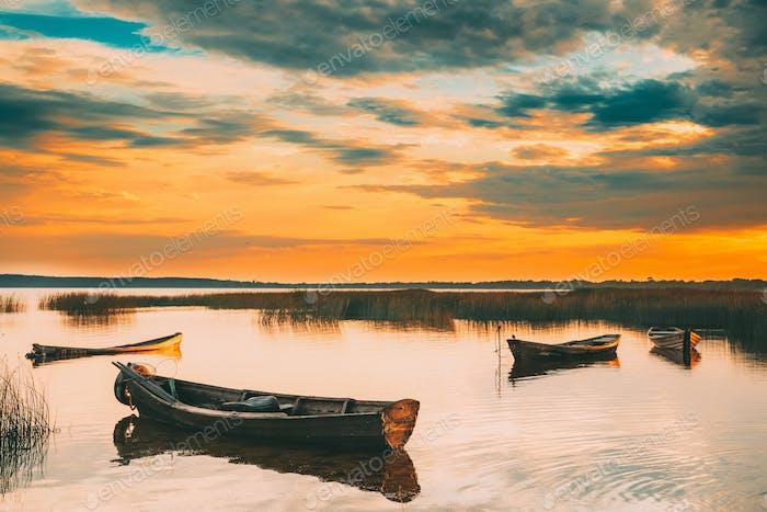 Braslaw Or Braslau, Vitebsk Voblast, Belarus. Wooden Rowing Fish