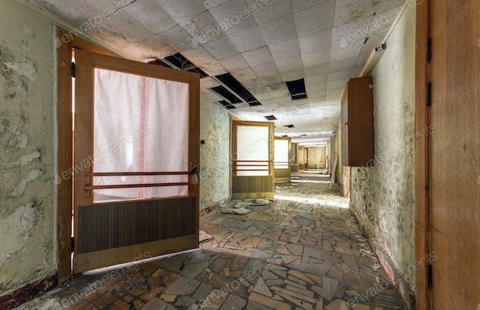 Corridor in an abandoned building