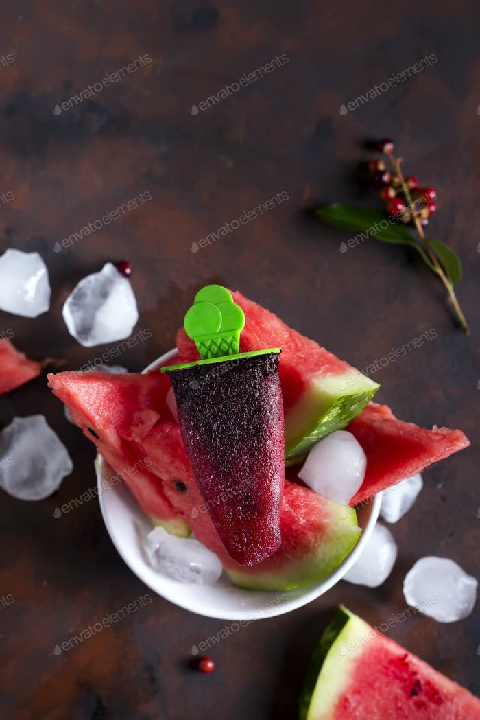 Ice cream berry watermelon
