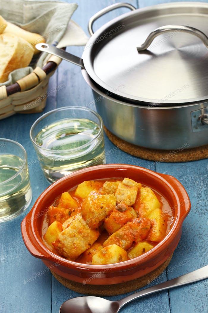 Marmitako, Thunfisch und Kartoffeln Eintopf, spanische baskische Küche