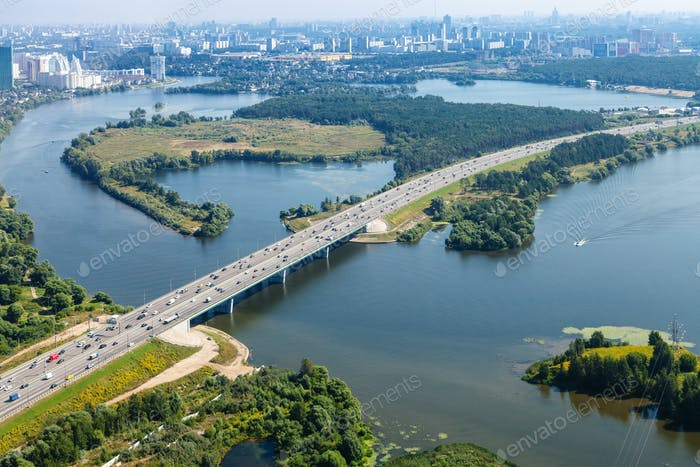 bird's-eye view of Novorizhskoye Shosse to Moscow
