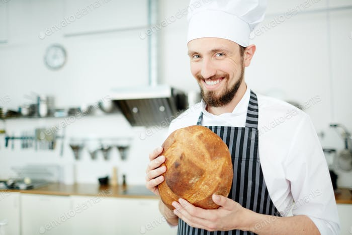 Baker with bread