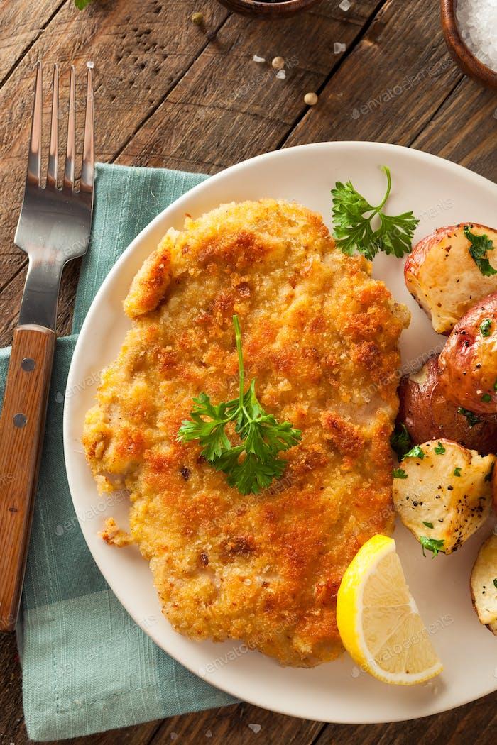 Homemade Breaded German Weiner Schnitzel