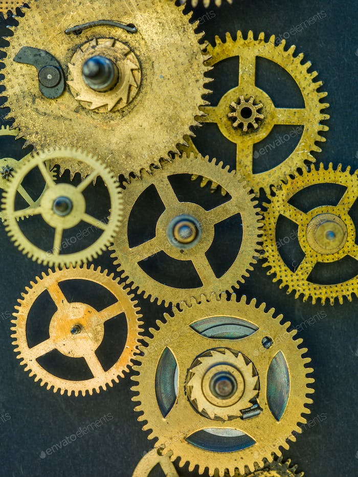 Gears and cogs clock