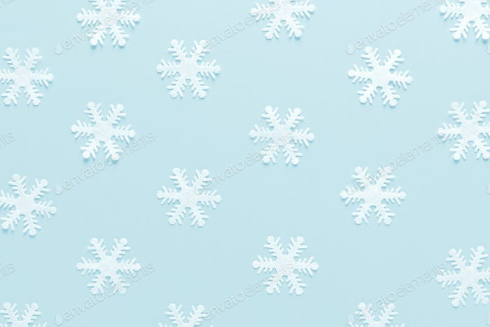 Christmas, New Year or Noel holiday decorations, snowflakes