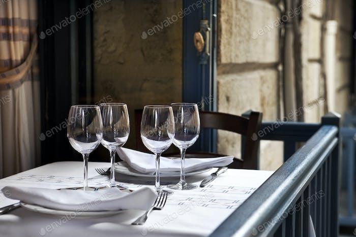 In einem französischen Bistro