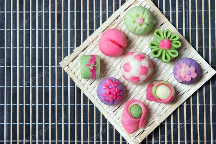 Japanese traditional confectionery wagashi