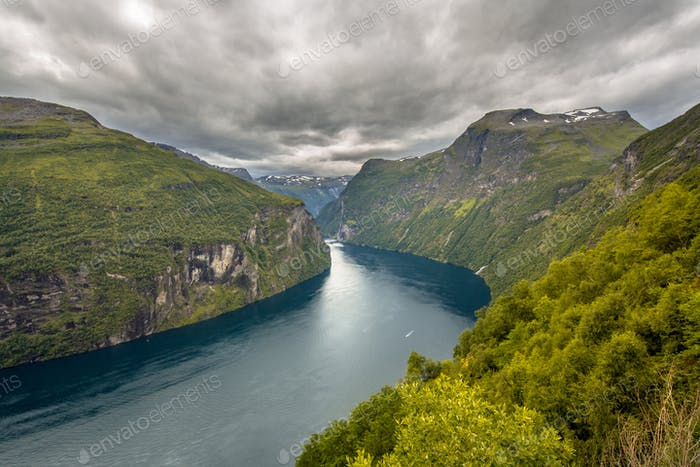 Geirangerfjord seen from viewpoint