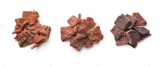 Rindfleisch ruckartige Stücke.