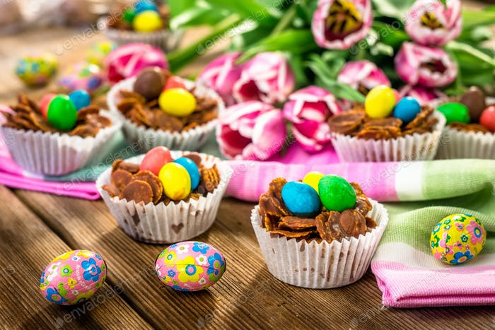 Delicious chocolate Easter sweets