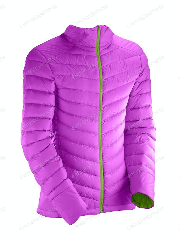 Purple Raincoat Isolated On White Background