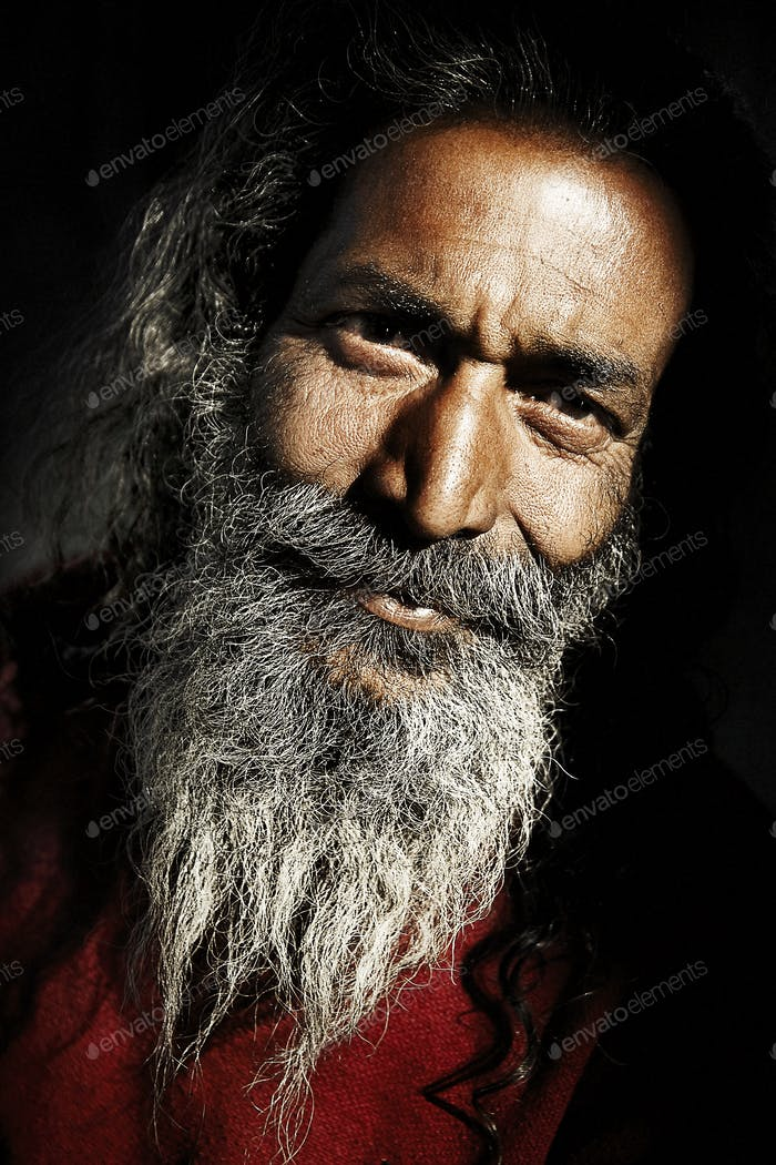 Indigenous Senior Indian Man Looking at the Camera Concept