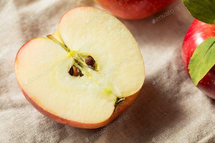 Raw Organic Red Apples