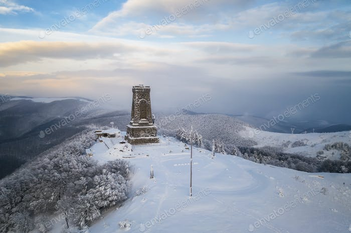 Panoramic view of the Liberty Monument, Balkans, Bulgaria