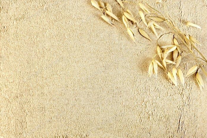 Flour oat with stem