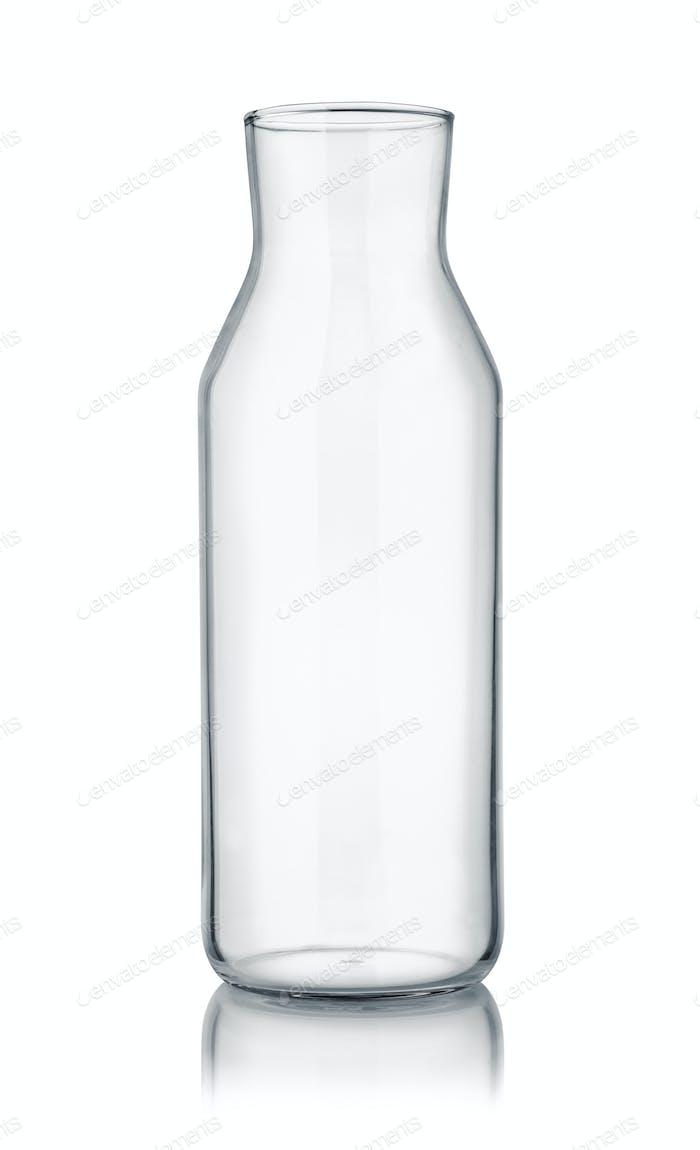 Vorderansicht der leeren Glaskaraffe