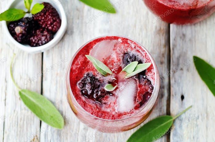blackberry sage cooler