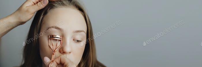 Copper eyelash curler