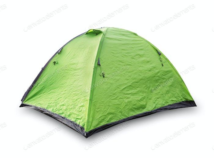 Grünes touristisches Zelt