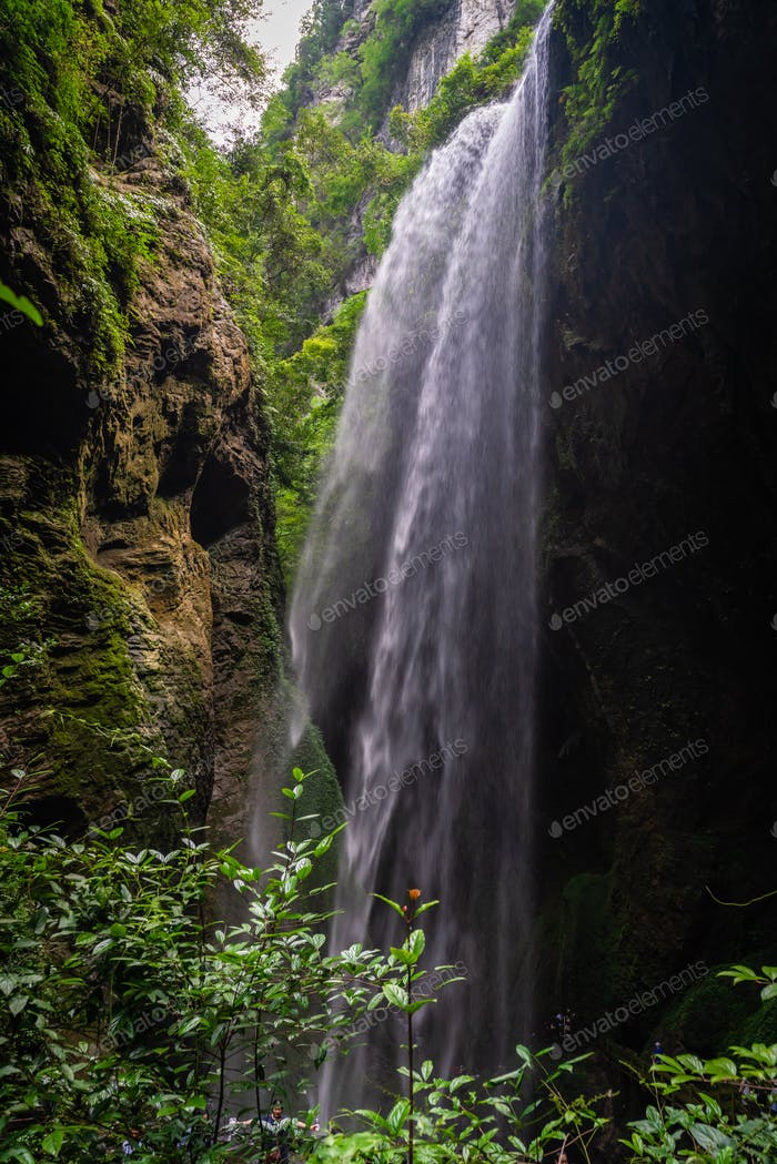 Giant Waterfall in Wulong National park