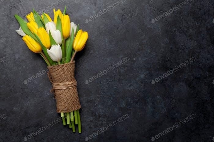 Colorful tulip flowers bouquet
