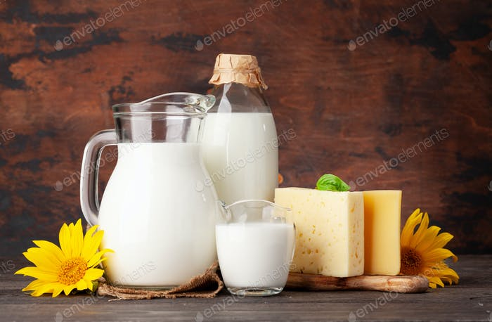 Various dairy products