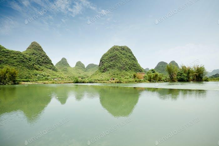rural scenery in yangshuo