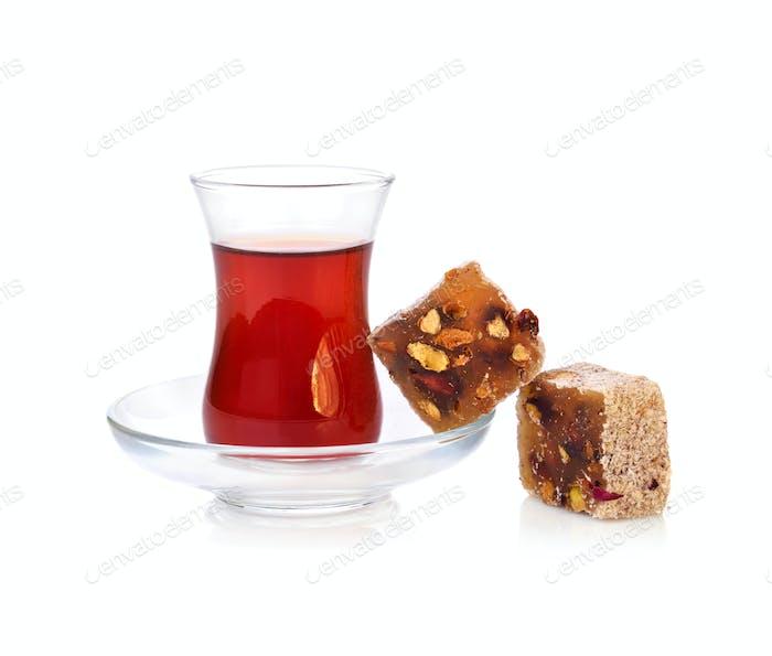 Türkische Freude und Tee