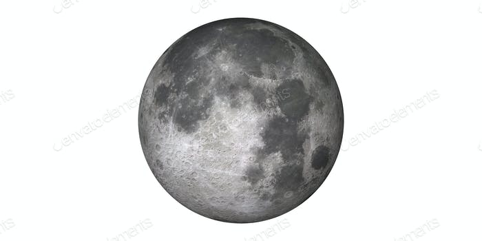 Moon full and new in outer space