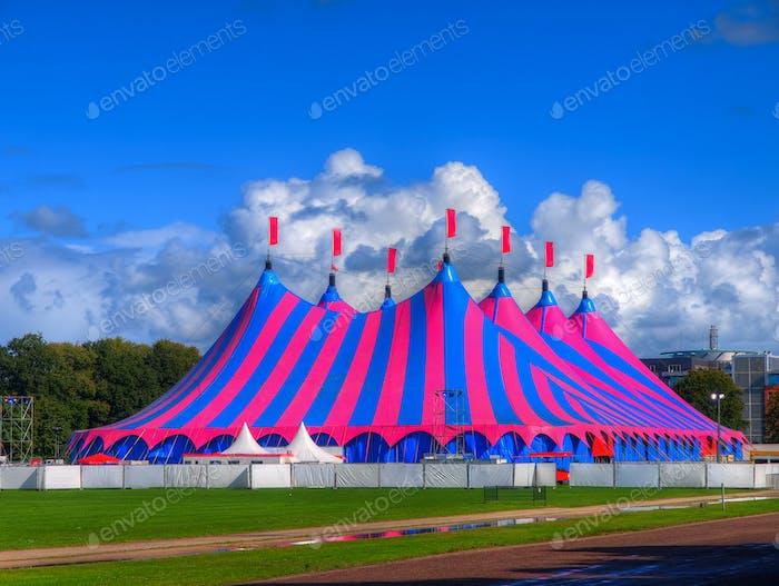 Big Top Circus Tent in Bright Colors