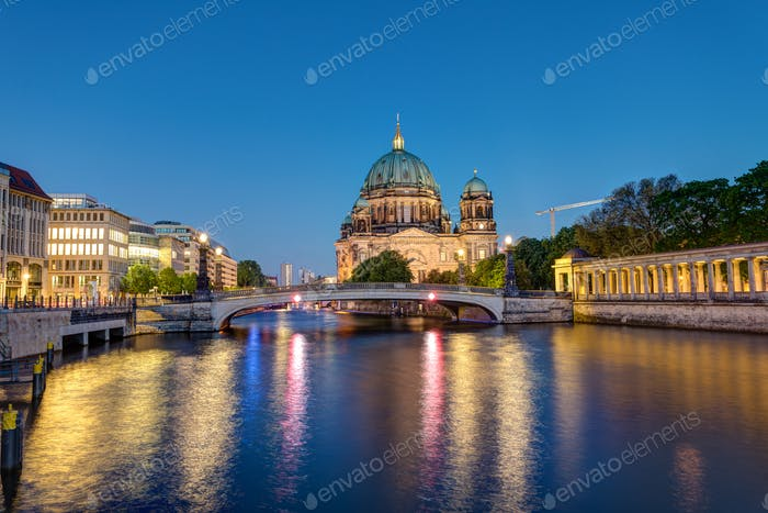 The Berlin Cathedral at the river Spree