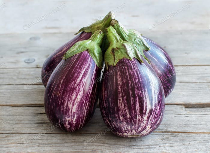 Striped eggplants