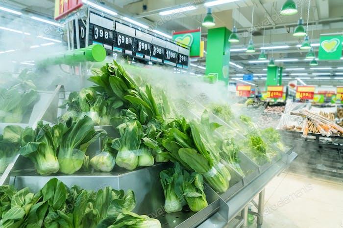 Supermarkt, Gemüsezone