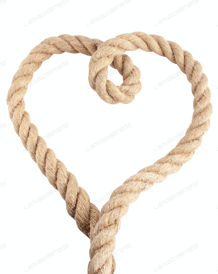 Heart shape from rope