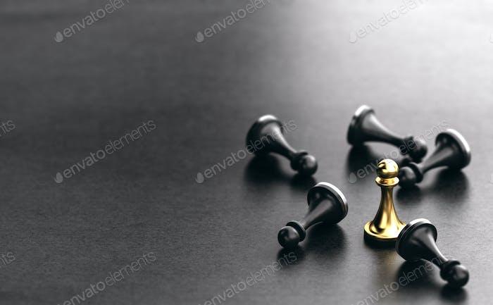 Strategic Business, Overcoming Competitors Concept.