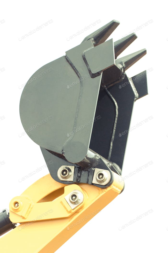 Shovel of excavator or bulldozer, part of industrial machinery