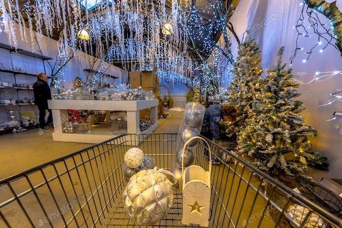 Cart at Christmas fair