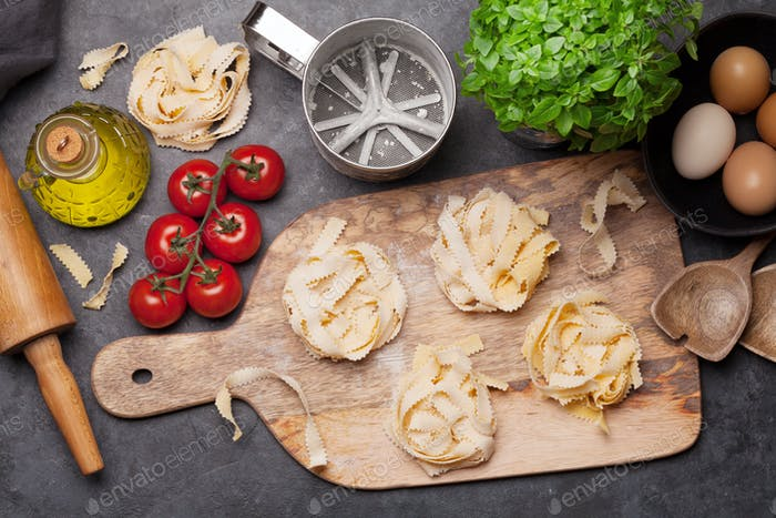 Homemade pasta making