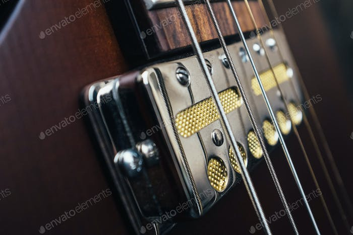 Guitar pickups closeup