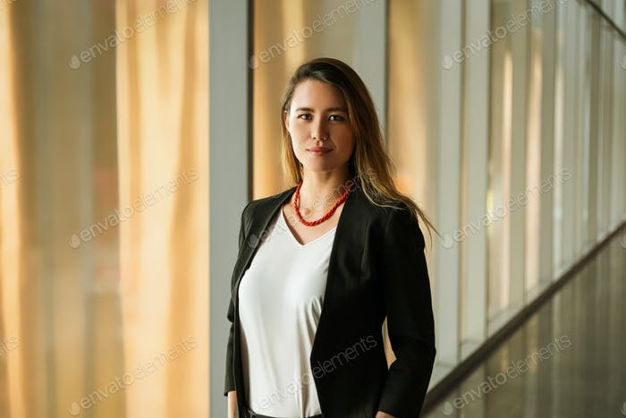 Portrait Of Businesswoman In Corporate Office