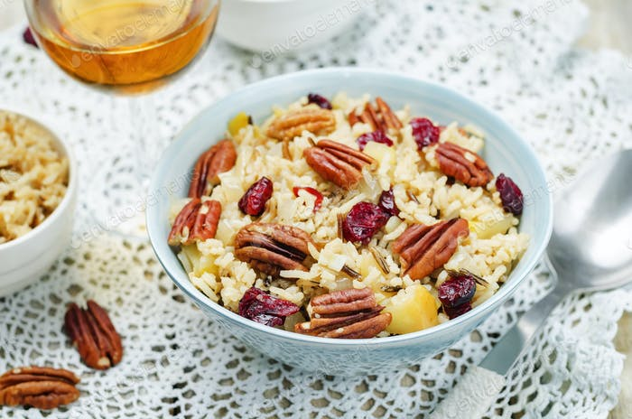 Apple Pecan dried cranberries and brown wild rice