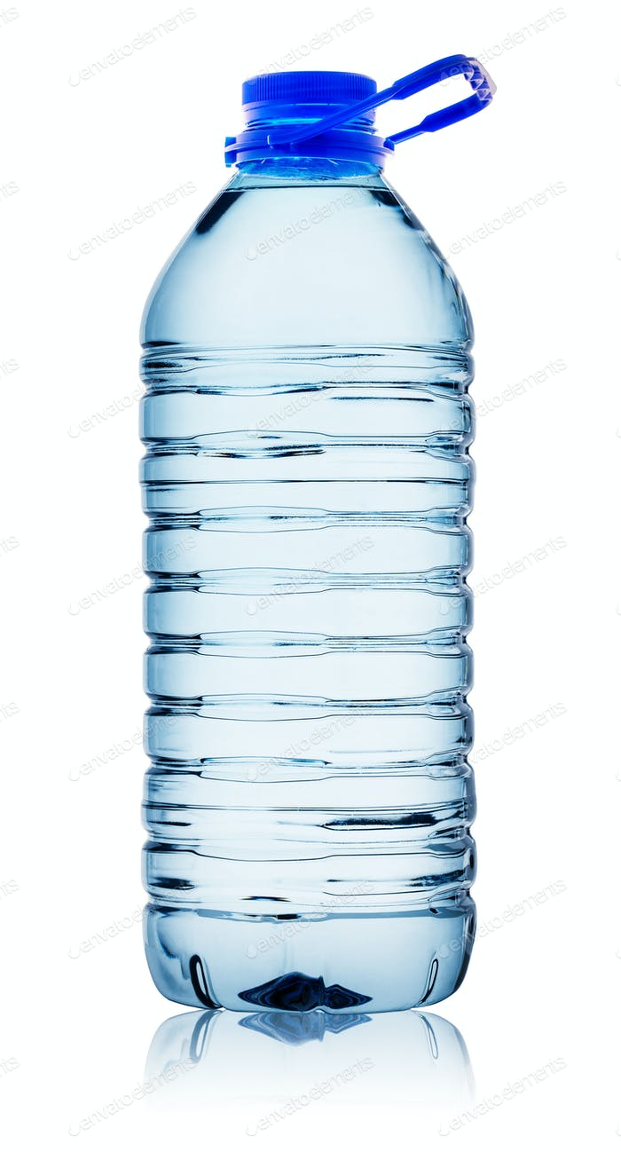 Bottle of water with handle