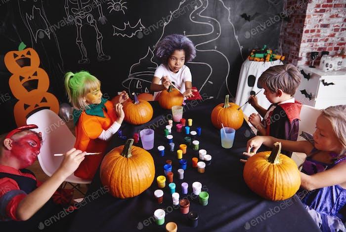 Kürbis ist ein Symbol für Halloween