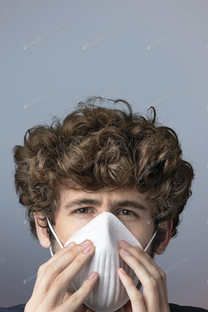 Máscara de protección para la salud Banner Pinterest