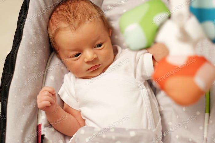 Zwei Wochen altes Neugeborenes Baby