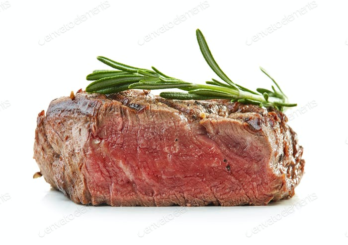 grilled beef fillet steak meat