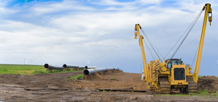 construction of pipeline