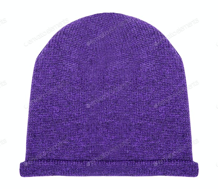 purple hat on a white background