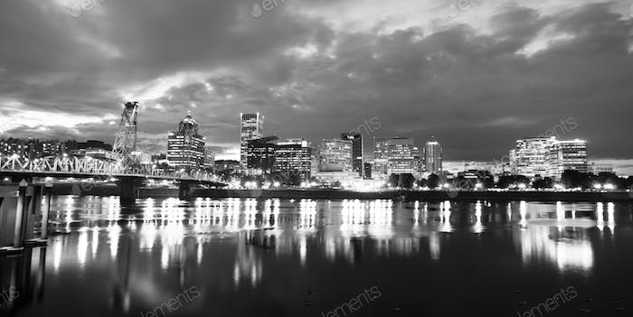 Willamette River Waterfront Portland Oregon Downtown City Skyline