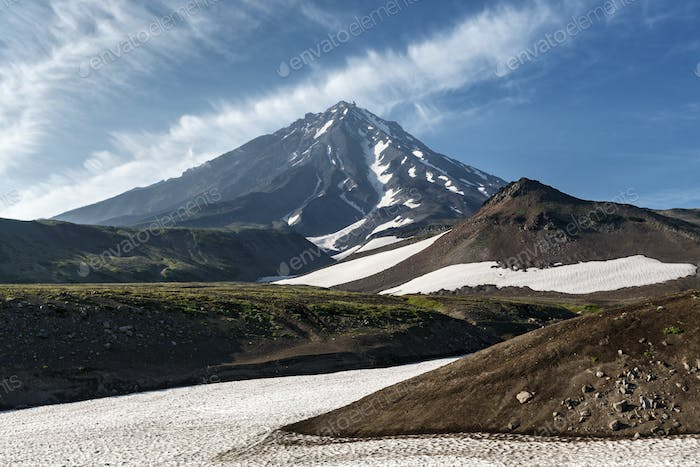 Beautiful Koryaksky Volcano - Active Volcano of Kamchatka Peninsula